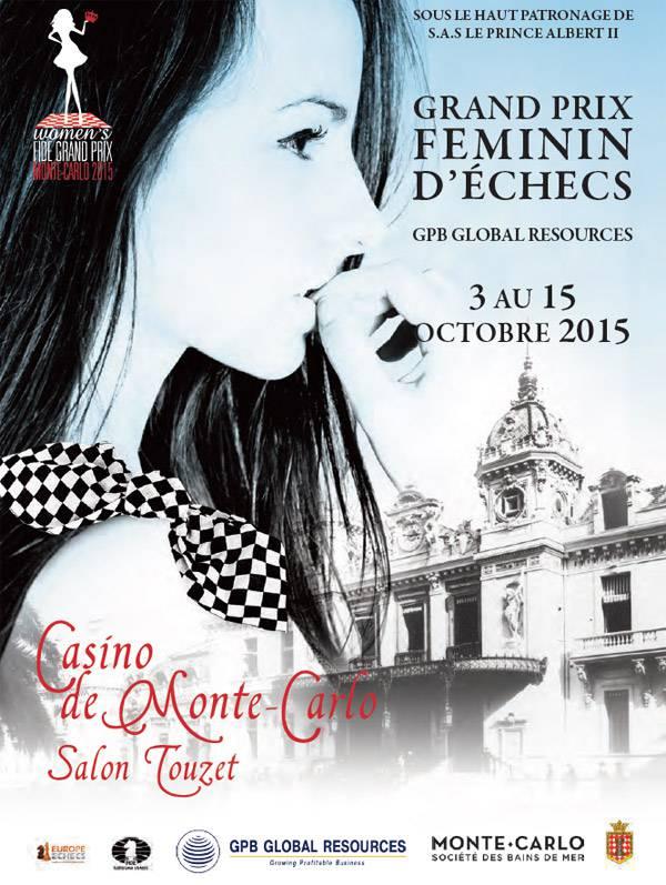 L'affiche du Grand Prix Féminin d'échecs de Monaco © site officiel
