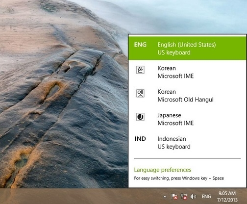 how to add chinese input in windows 8