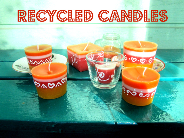Recycled Candles - Kierrätetyt kynttilät