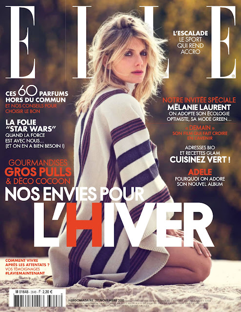 Actress, @ Melanie Laurent - Elle France, Novembre 2015