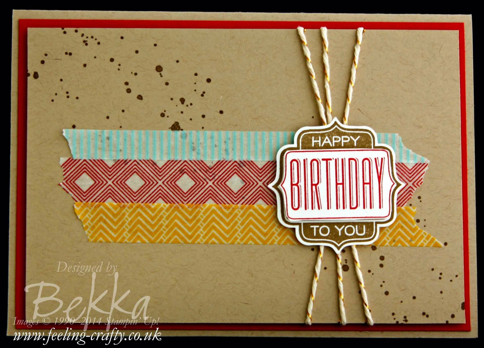 Stamp Club Express Birthday Card using Tag Talk by Stampin' Up! UK