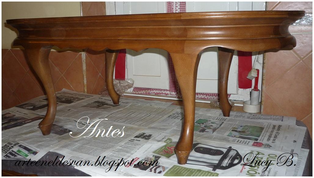 Arte en el desv n la mesa que so ser una ba era antigua for Como pintar una mesa de madera