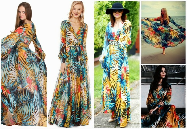 Oasap Tropical Forest Midi Dress