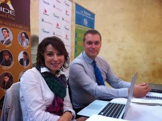 Les arbitres Anastasia Sorokina et Laurent Freyd © Chess & Strategy