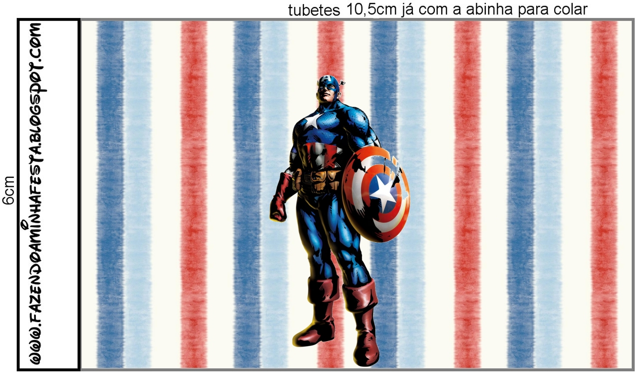 captain america  free printable candy bar labels