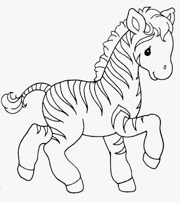 Cute Baby Animal Coloring Pages Zebra