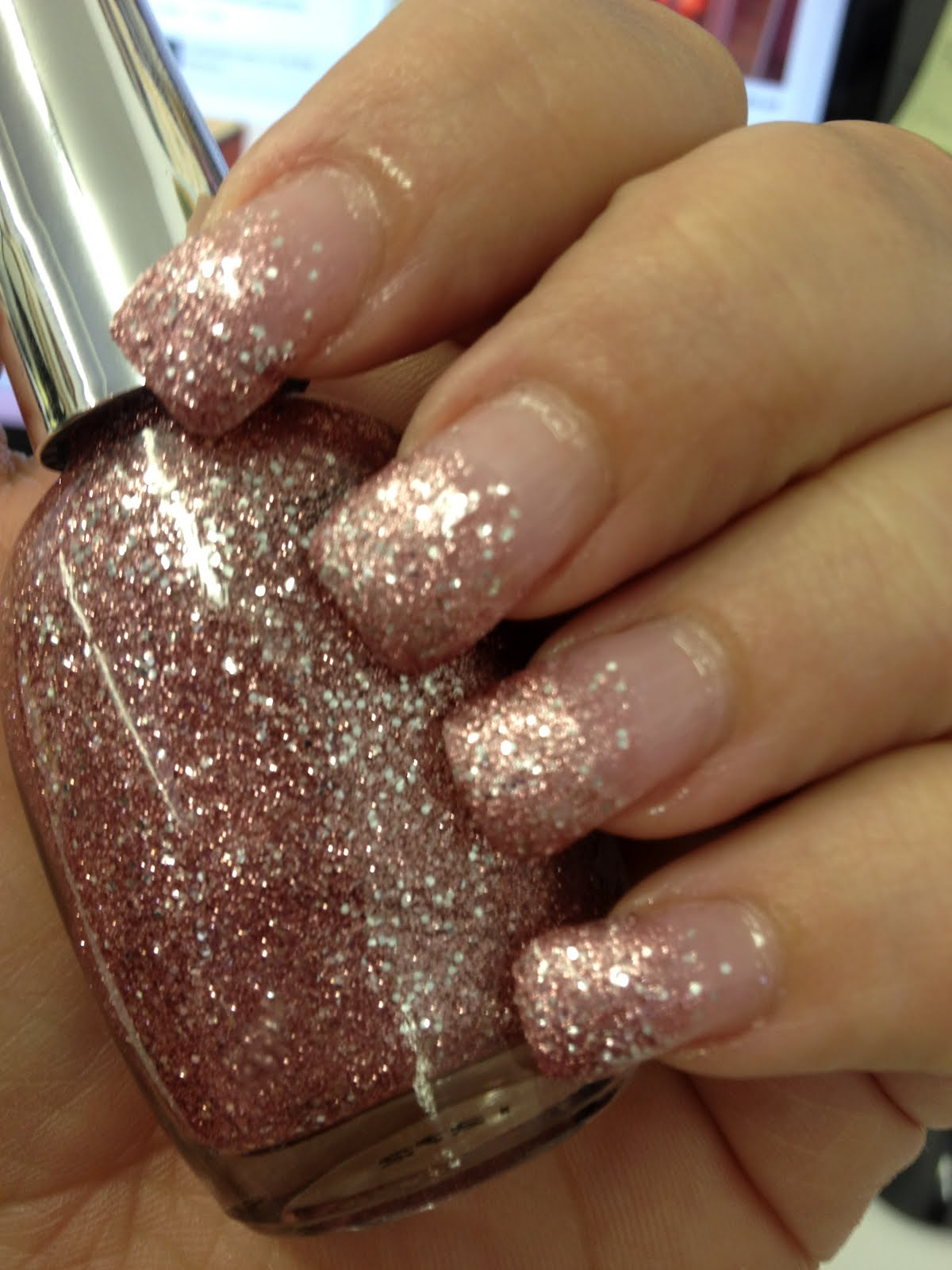 Ombre Nails Pink Glitter Pink Ombre Glitter Nails