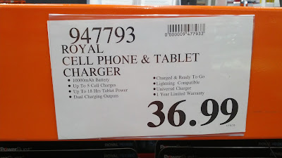 Royal Cell Phone and Tablet Charger PB10000 at Costco