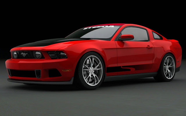Red Ford Mustang Car