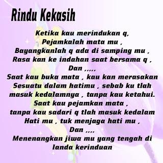 Puisi Rindu Terbaru 2013