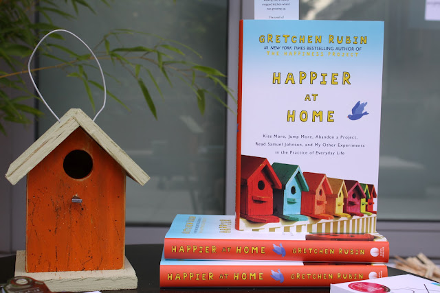 Happier at Home books at the Mighty Happy book launch for Gretchen Rubin's new book Happier at Home