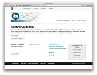 Web de la Carpeta Cudadana