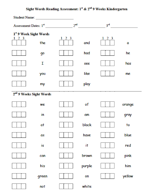 assessment you there  how I it. have It's word So  my word sight class worksheets sight  in do assessment