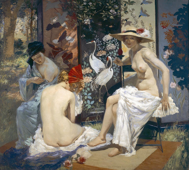 The Sunbath by Rupert Bunny, (1913)