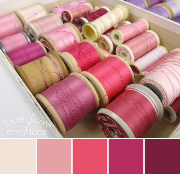 Colour Palette Inspiration No.24 Pink Threads hazelfishercreations