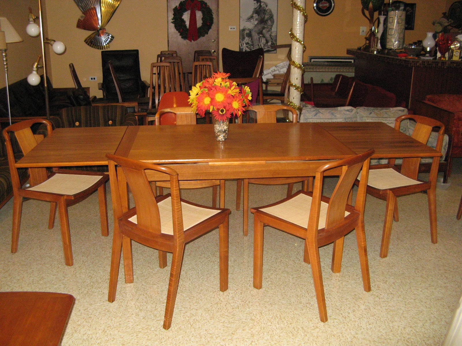 Mid Century Danish Modern Teak Dining Table And 6 Gorgeous Dining