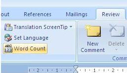 menghitung jumlah kata di ms word 2007