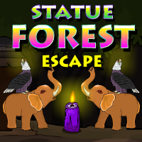 YalGames Statue forest escape