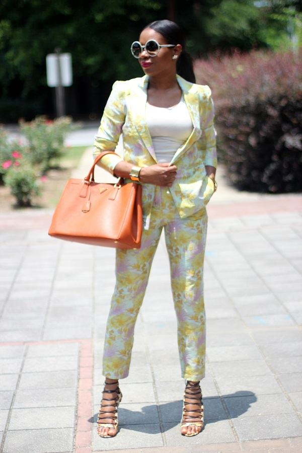 co-ords, matching, suits, floral suit, asos, tank top, nordstrom, aquazzura, strapy sandals, snake skin shoes, snake skin sandals, tom ford, round sunglasses, tom ford sunglasses, rocksbox, rocks box, orange bag, prada bag, papaya saffiano bag, prada orange bag, saffiano tote, crystal earrings, hinge, canada day, july, july 1st,  wcw, wednesday,  Daniel wellington, Daniel Wellington watch, birthday, June baby, Gemini, black sunglasses, Celine sunglasses, cat eye sunglasses, WOMEN'S FASHION, SUMMER TRENDS, SUMMER FASHION, SUMMER STYLE, SUMMER 2015, SUMMER TIME, STREET STYLE,  FASHON, STYLE, FASHION BLOG, FASHION BLOGGER, F BLOGGER, STYLE BLOG, STYLEBLOGGER, STYLIST, STYLISH, STREETSTYLE, PERSONAL STYLE, PERSONAL STYLE BLOGGER, BLOGGER, BLOG, INSTA STYLE, INSTA FASHION, WHAT TO WEAR, OOTD, FASHION OF THE DAY, STYLE OF THE DAY, FASHION AND STYLE, winter STYLE, WHAT TO WEAR FOR This season, MUST HAVE, summer, summer fashion, summer style, summer TRENDS, fashion TRENDS  , Atlanta blogger ,GIRD LOCK, GIRD PRINT, GRID SKIRT, s, summer trends,