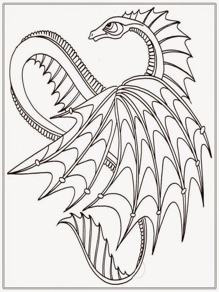 Dragon Adult Coloring Pages