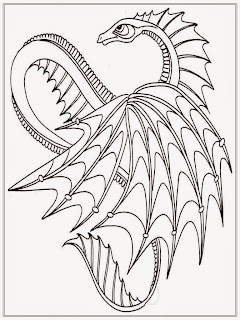Free Adult Coloring Pages Dragon