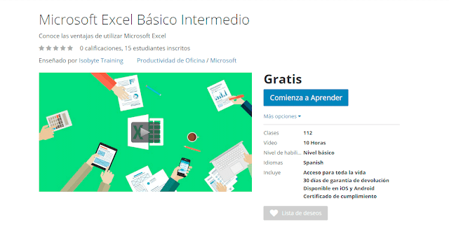 Curso Microsoft Excel Básico Intermedio