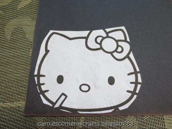Hello Kitty Head Cut Out
