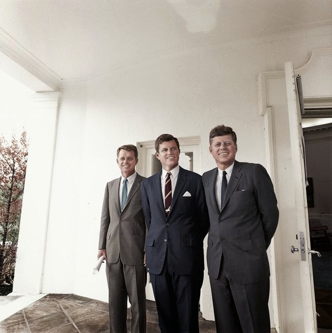 "randommusings.filminspector.com Brothers Robert Kennedy, Edward ""Ted"" Kennedy, and John F. Kennedy"