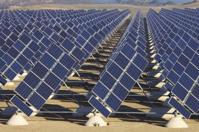 Solar panel array (Credit: Shutterstock) Click to enlarge.