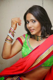 Actress Mithra half saree Pictures 006.jpg