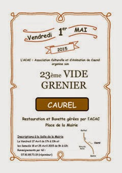 CAUREL  1er MAI 2015 BROCANTE