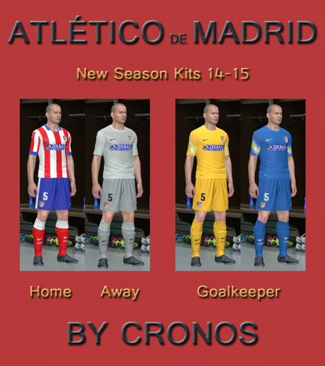 PES 2014 Atlético de Madrid 14-15 Kits by Cronos