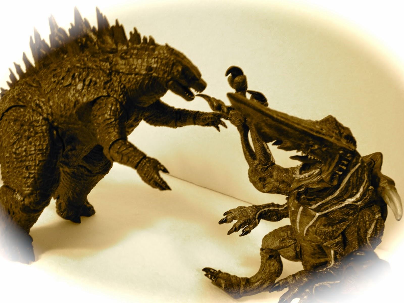 GUEST REVIEW: Godzilla vs. Knifehead!   plastic memory
