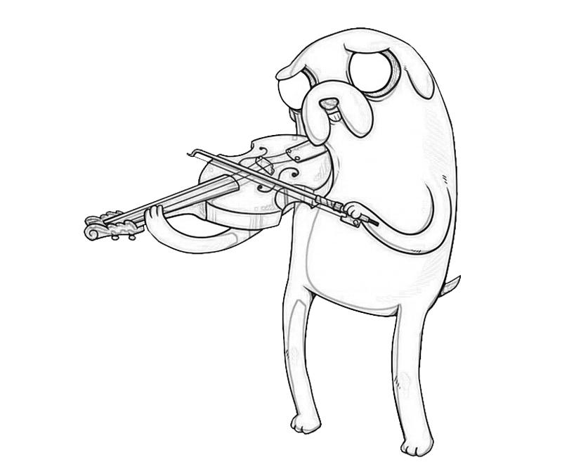 jake-the-dog-music-coloring-pages