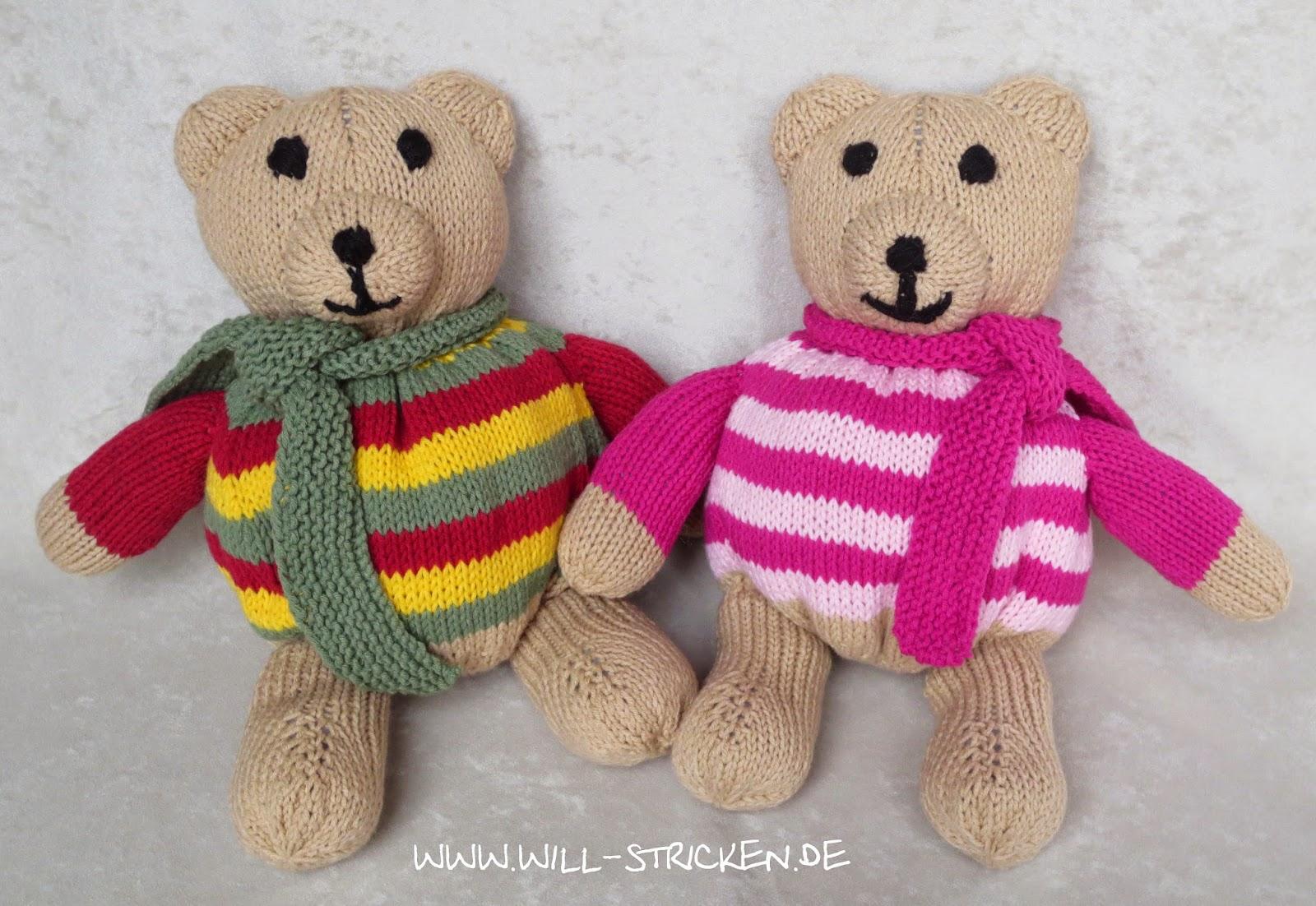 Teddybär stricken Strickanleitung