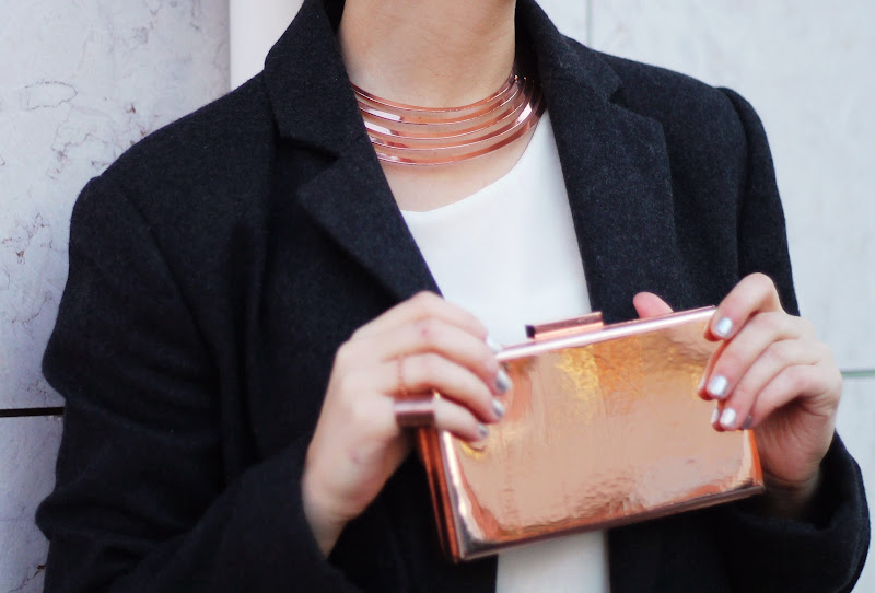 rose gold accessories street style