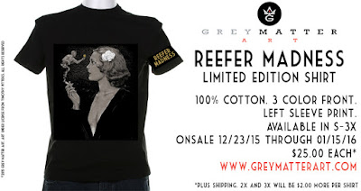 Reefer Madness T-Shirt by Timothy Pittides x Grey Matter Art