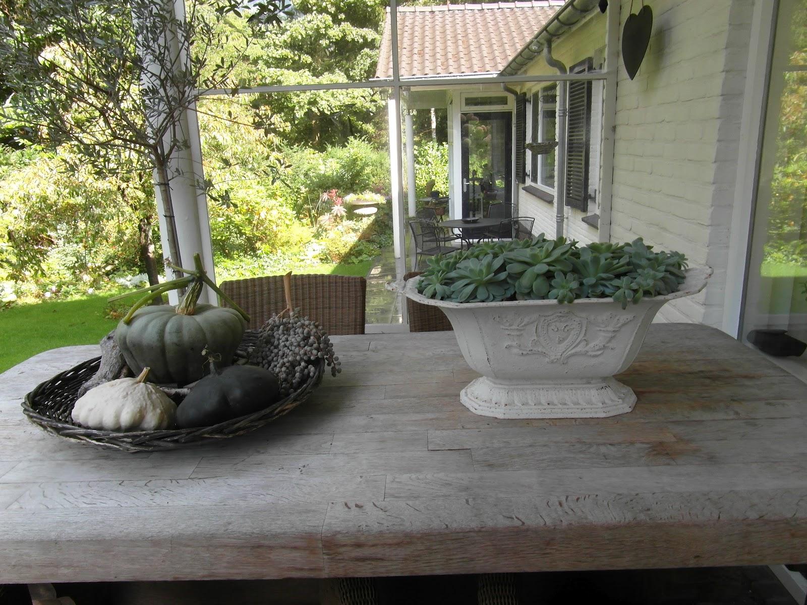 Jannysblog herfst op het terras - Decoratie binnen veranda ...