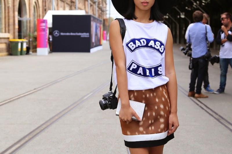 MBFWA, Cameo, Bambi, deer print, Street Style, Sydney, Australian Fashion Week