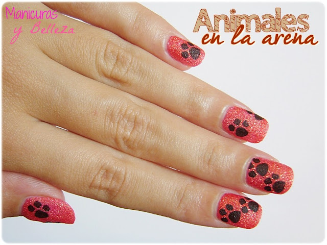animales en la arena efecto nail art manicura sugar mat kiko animals summernails on the sand nails