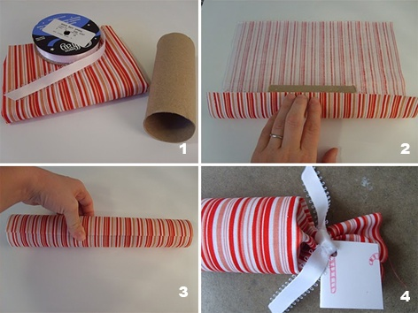 upcycle toilet paper roll by gift wrapping