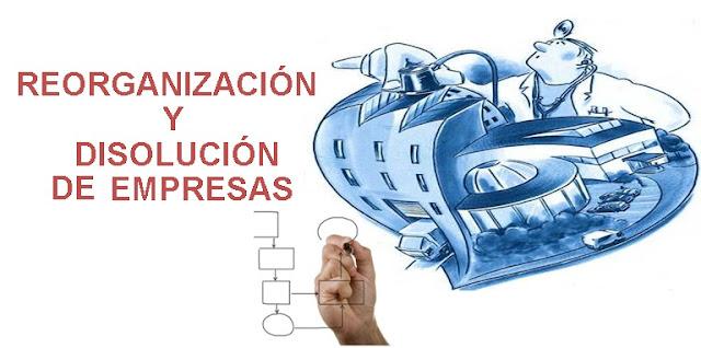Reorganización y disolución de empresas.