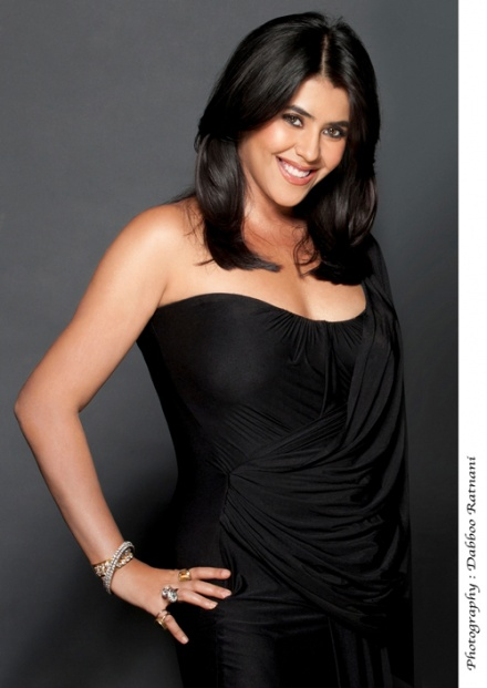 ekta Kapoor Hot Pic in Black dress - Ekta Kapoor in Black Dress - HOT