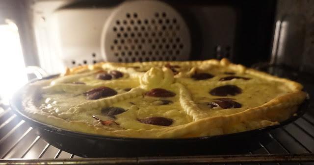 Balsamico-Zwiebelkuchen - im Ofen