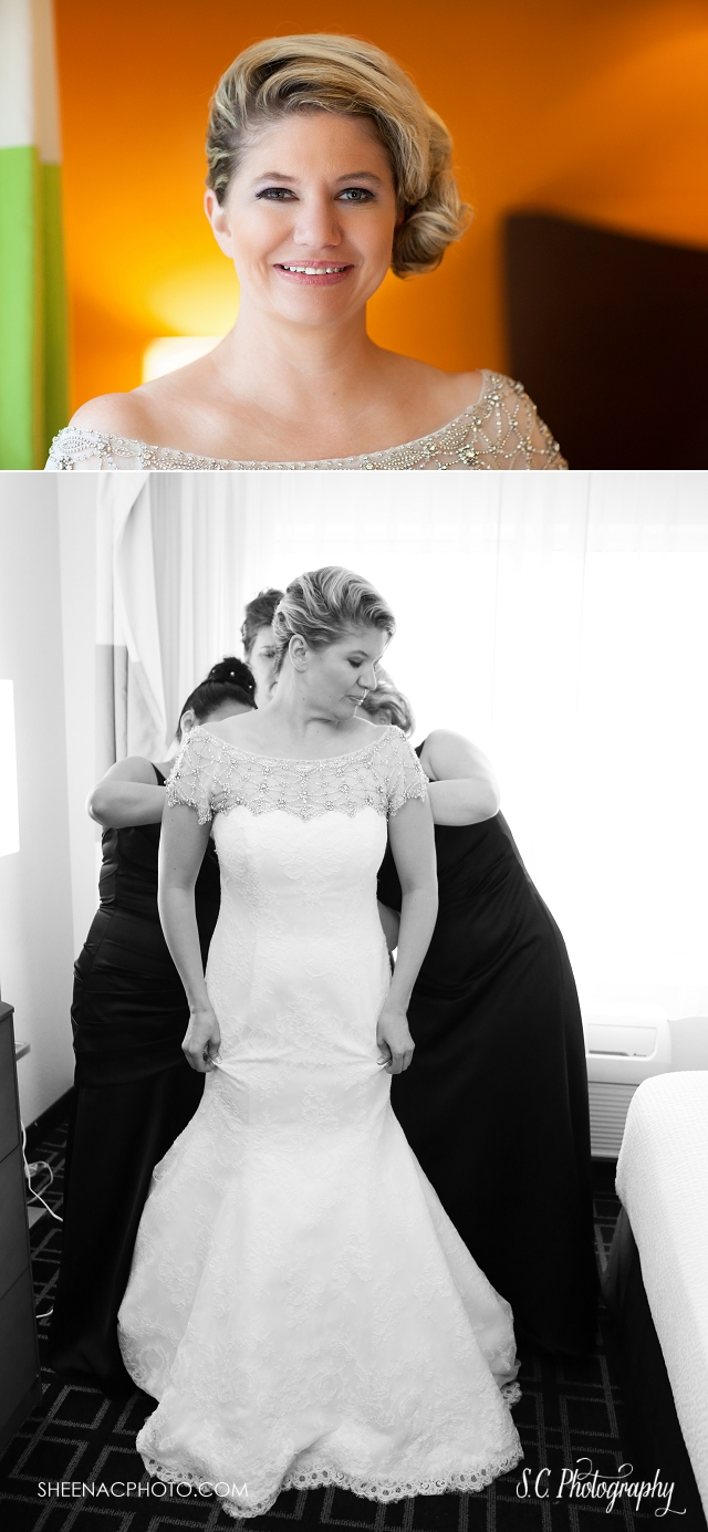 rhinestone wedding gown, southwest michigan wedding photographer