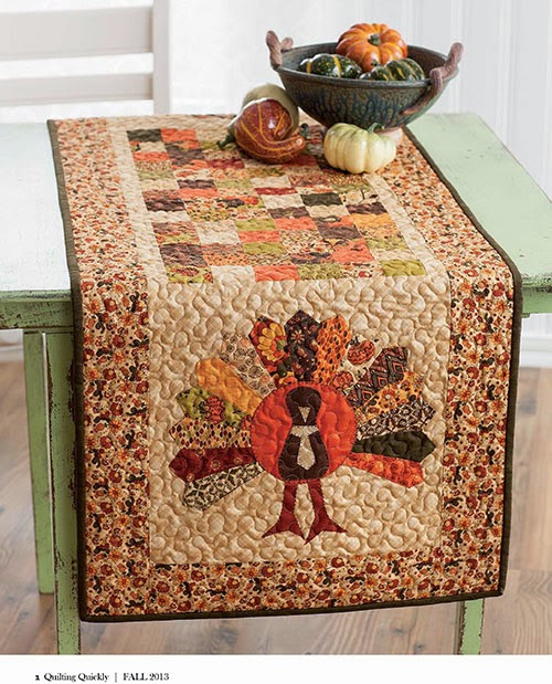 Thanksgiving Quilted Table Runner Patterns : Quilted Thanksgiving Table Runner Patterns images