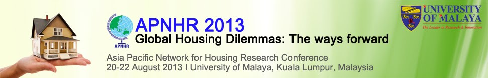 APNHR 2013  Asia Pacific Network for Housing Research Conference 2013