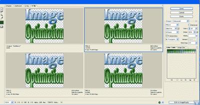optimizing image using photoshop