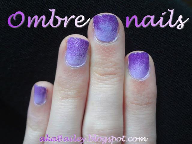 purple ombre nails