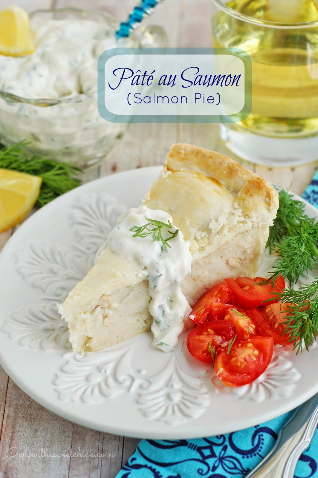 Pate au Saumon(Salmon Pie) by The Sweet Chick